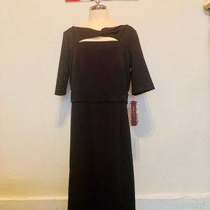 Dana Buchman black dress sz 8 stretch fabric